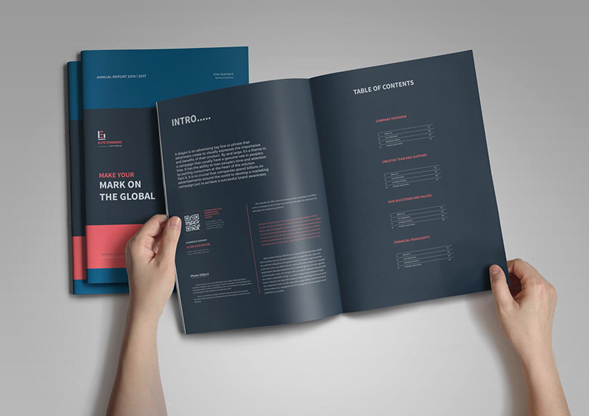 Minimalist Annual Report Design