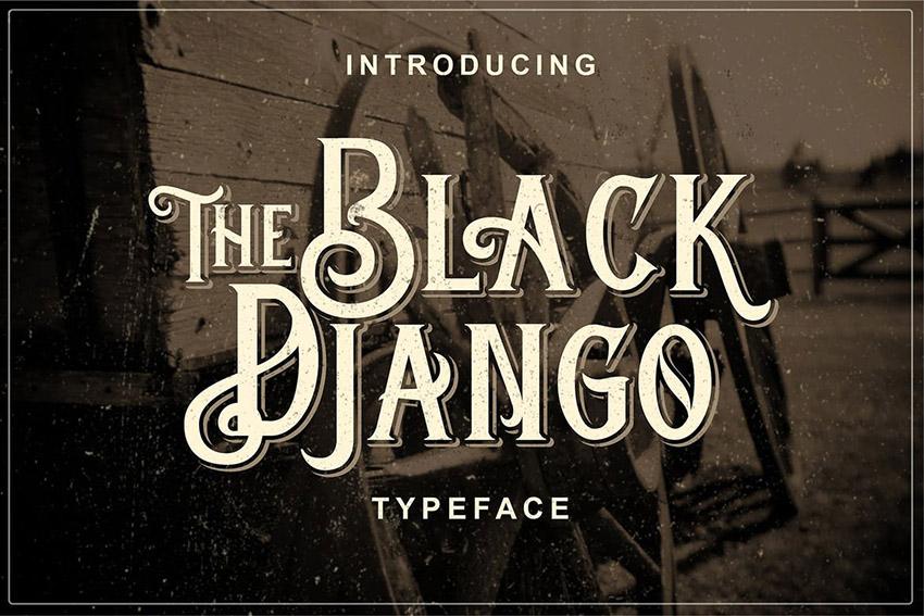 Black Django - Old Fashioned Font