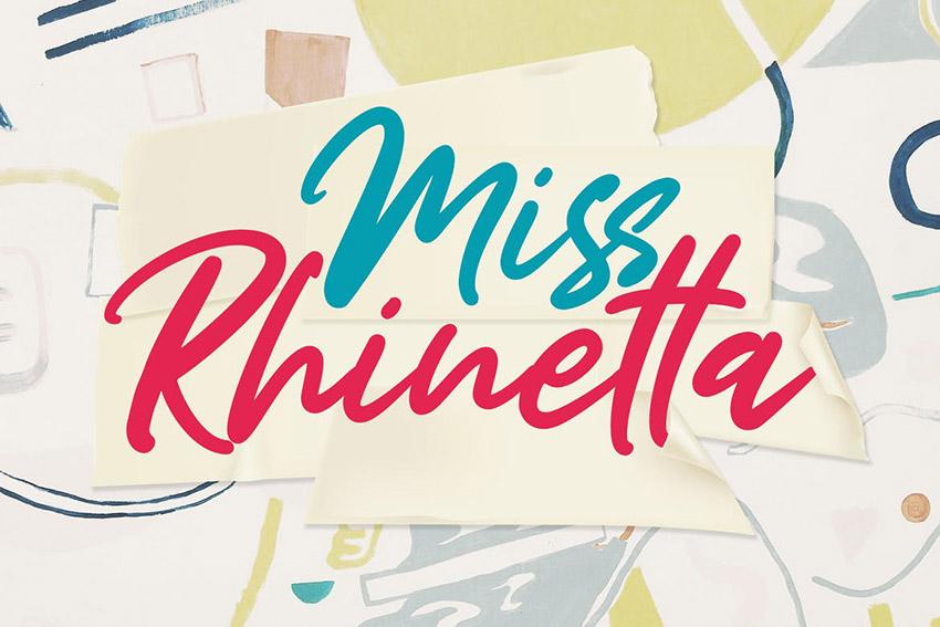 Miss Rhinetta Handwritten Font