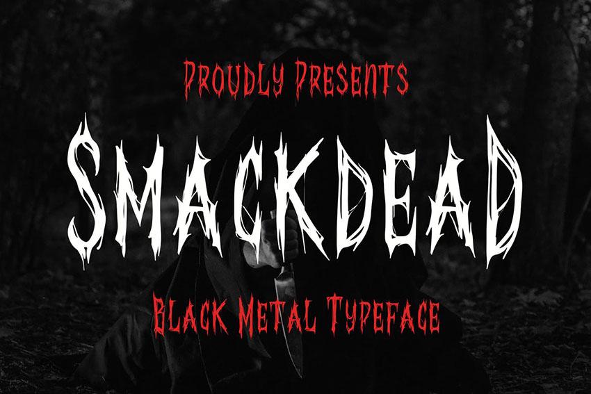 Smackdead Black Metal Typeface