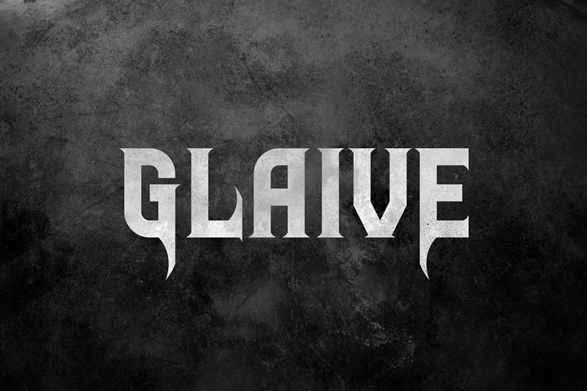 Metal Band FontGlaive Typeface
