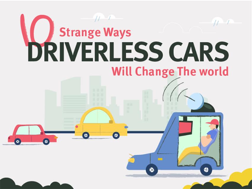 Strange Ways Driverless Cars will Change the World Infographic series by Anton Aladzhov