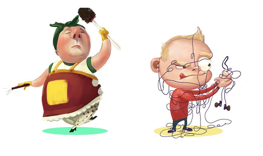 Character Illustrations by Anton Aladzhov