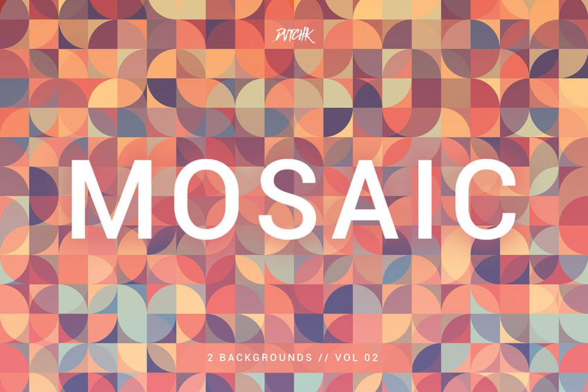 Mosaic Abstract Gradient Backgrounds by devotchkah