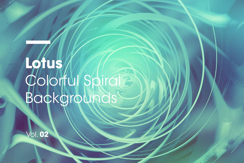 Lotus  Colorful Spiral Backgrounds