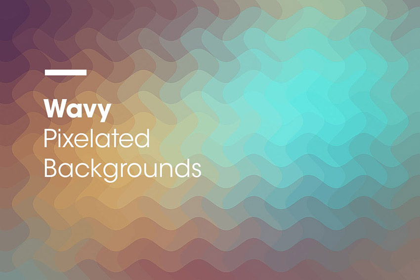 Wavy  Pixelated Backgrounds by devotchkah