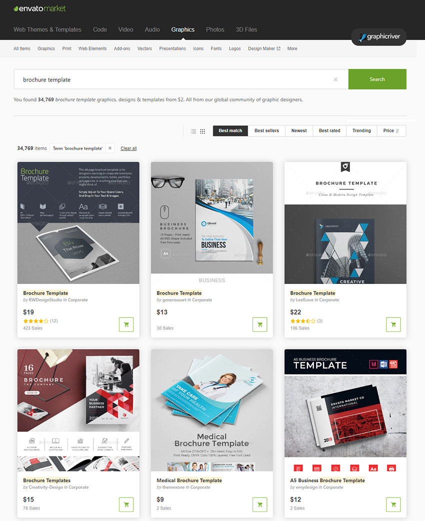 GraphicRiver Brochure Templates