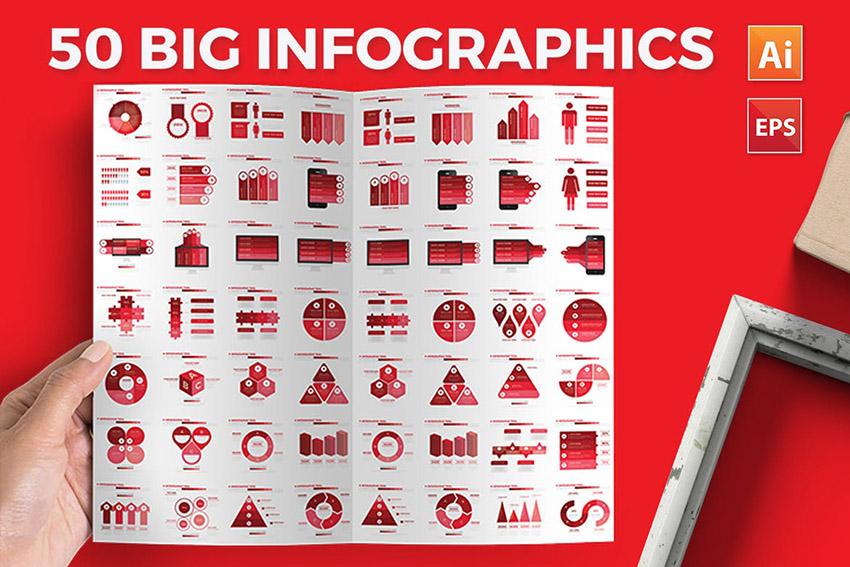 50 Big Infographics Bundle