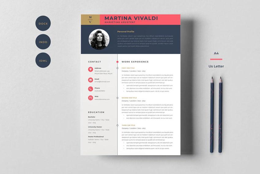 Template Resume Design