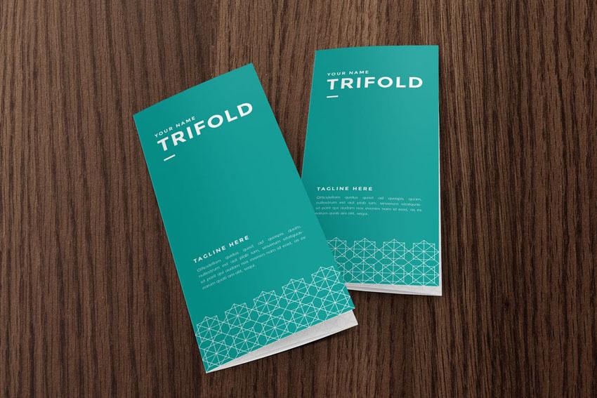 Patterned Trifold Brochure Design Template