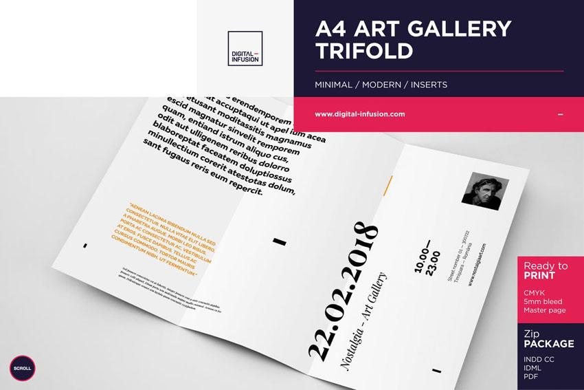 Trifold Invitation Brochure Template