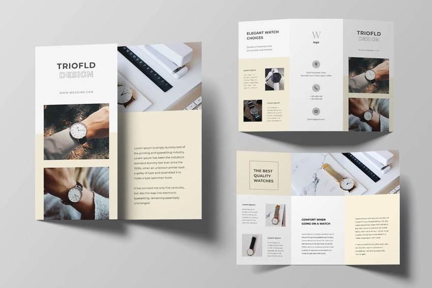 Watch Trifold Template Brochure