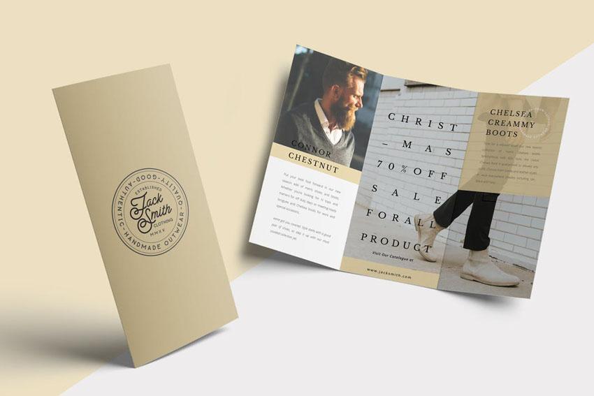 Fashion Trifold Brochure Design Template