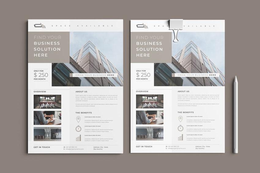 Properties Flyer Design Template