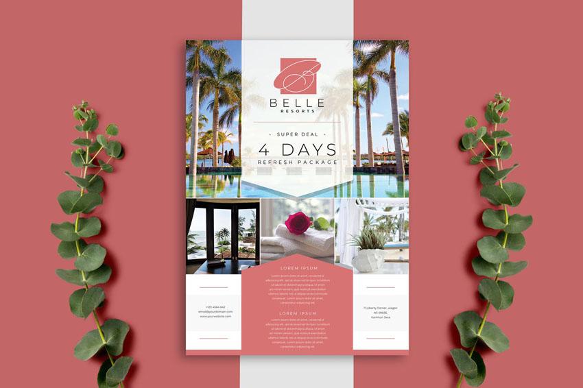 Resort Flyer Design Template
