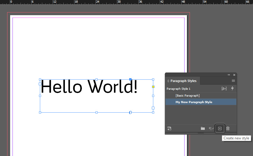 Text Tool InDesign