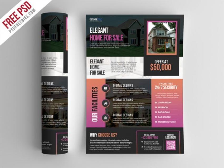 Dark Real Estate Flyer Free