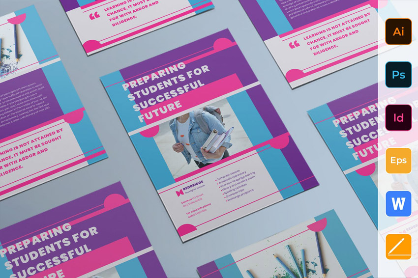Adobe InDesign Flyer template