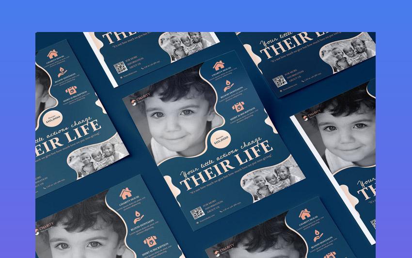 Charity Fundraiser Flyer PSD Template