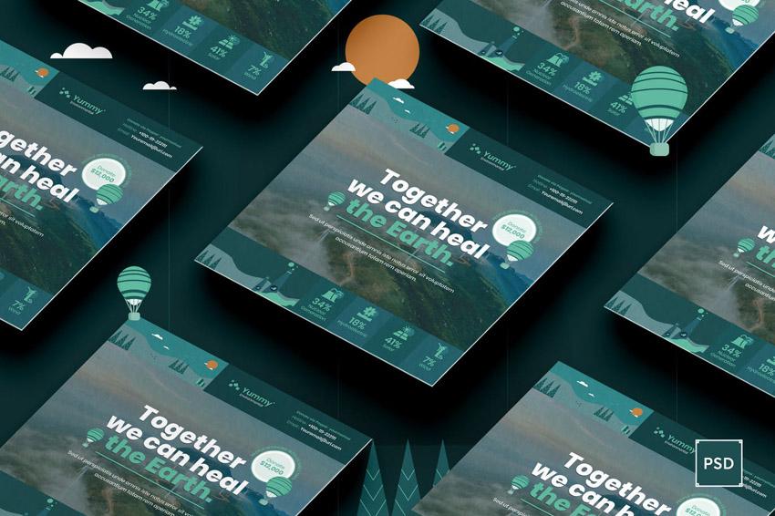 Environmental Benefit Charity Flyer Design Template