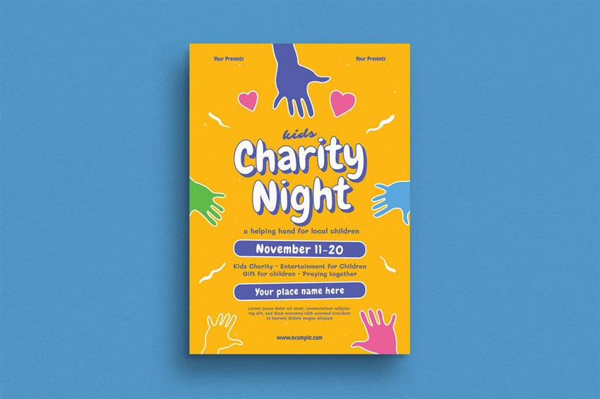 Charity Night Fundraiser Flyer Template