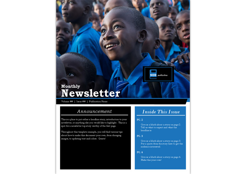 Nonprofit Newsletter Flyer Template