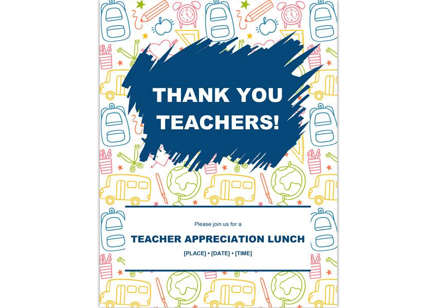 Teacher Appreciation Benefit Flyer Template