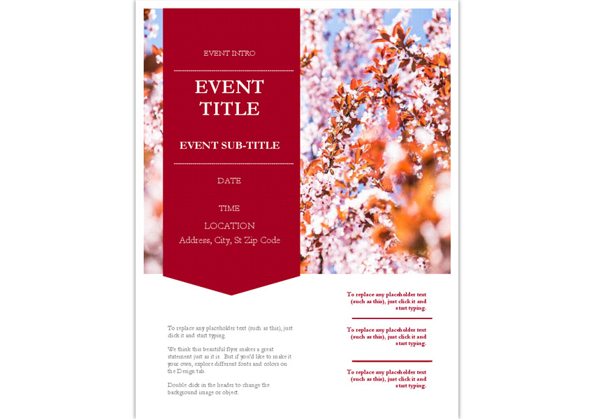 Spring Time Event Flyer Template