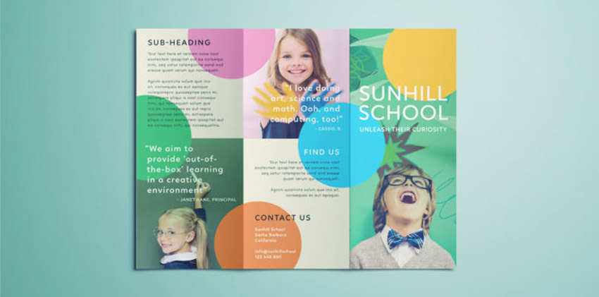 School Themed Template Design