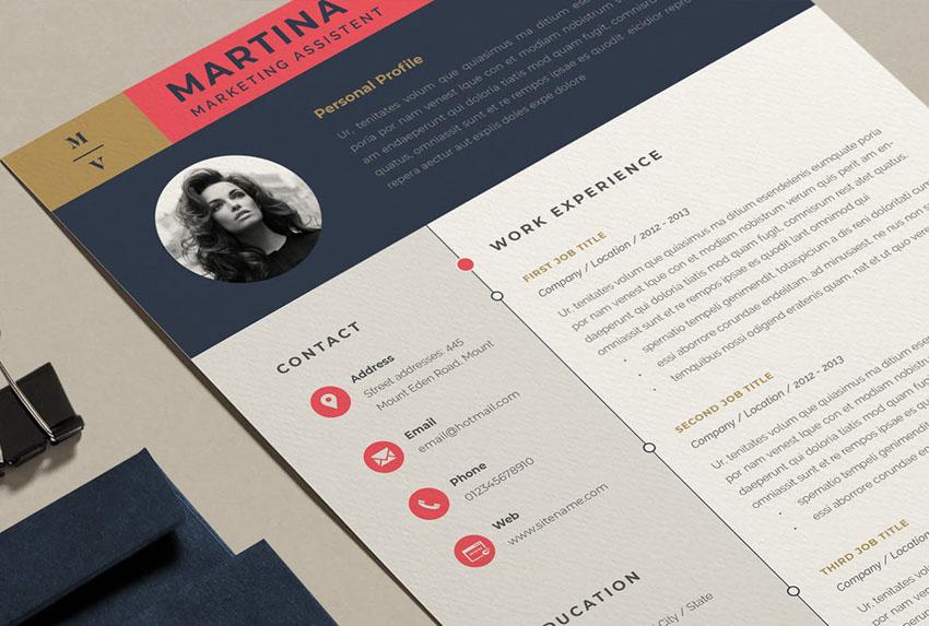 Resume Template Design for InDesign