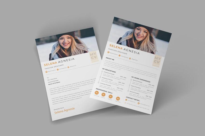 Cream InDesign CV Resume Template