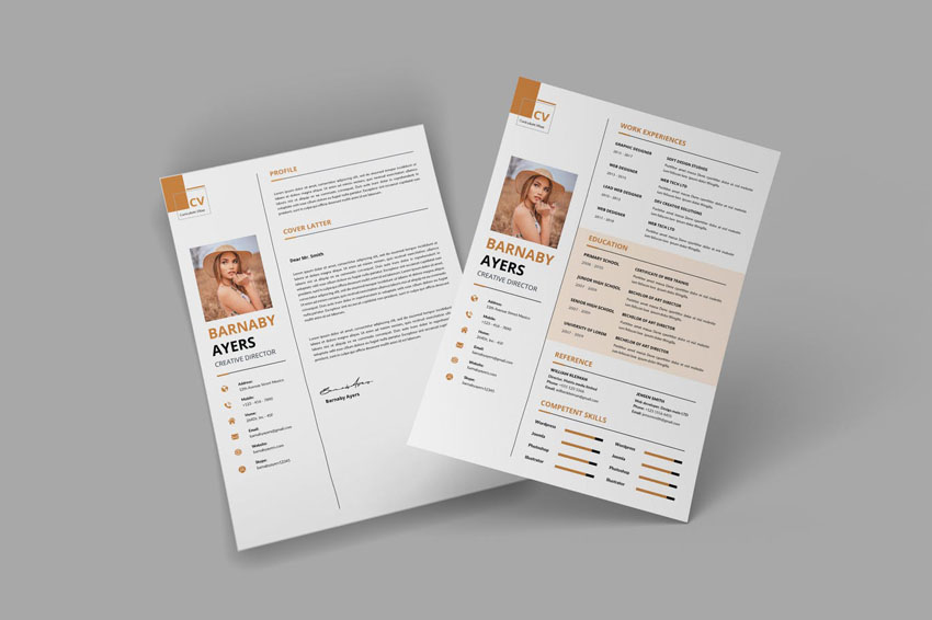 Minimal CV Resume Template Design