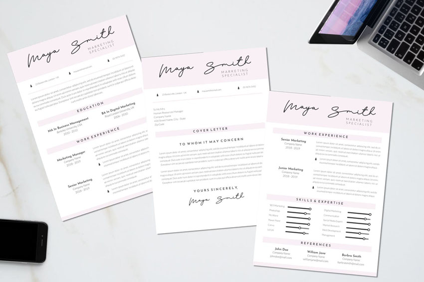 Marketing CV Resume Template