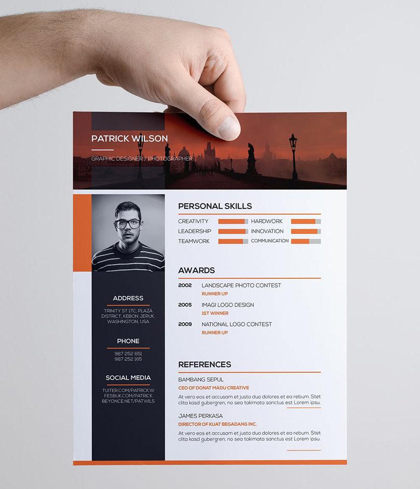 Graphic Design Resume Template InDesign