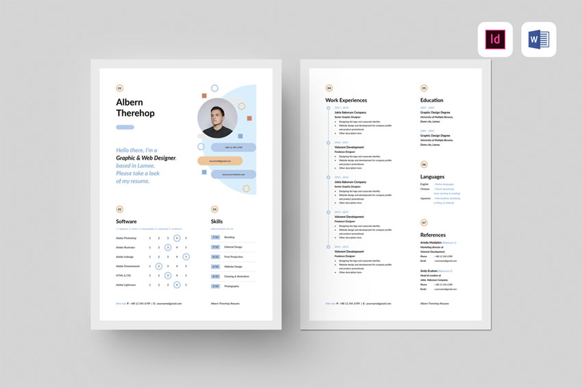 InDesign Resume Template
