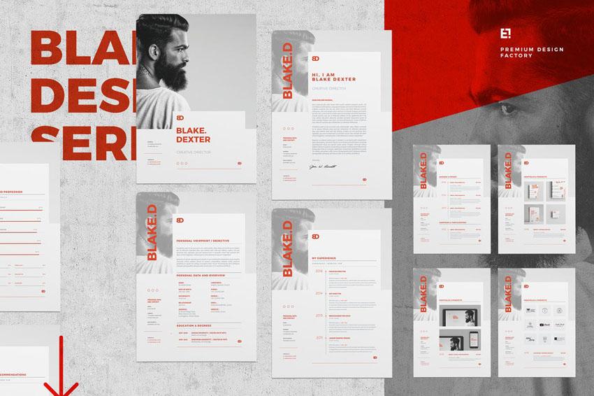 Resume Design Template InDesign