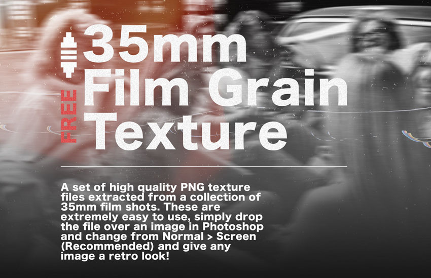 7 Free 35mm Film Grain Texture Set