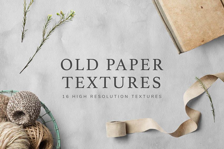 16 High Resolution Paper Texture Set