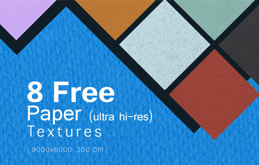 8 Free High Res Paper Textures