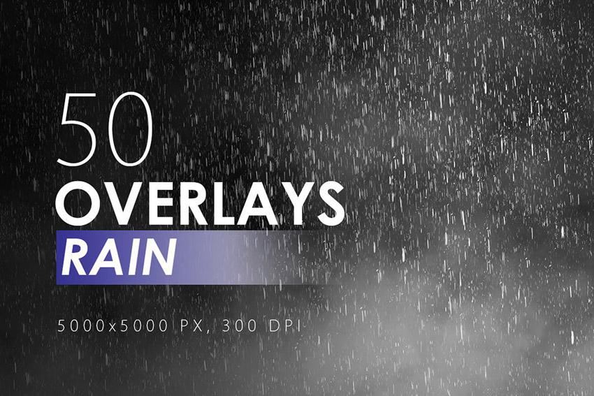 Photoshop Rain Overlay Effect