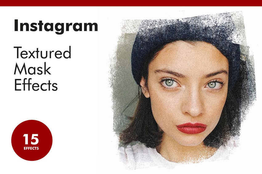 Instagram Textured Mask Effects for Photoshop