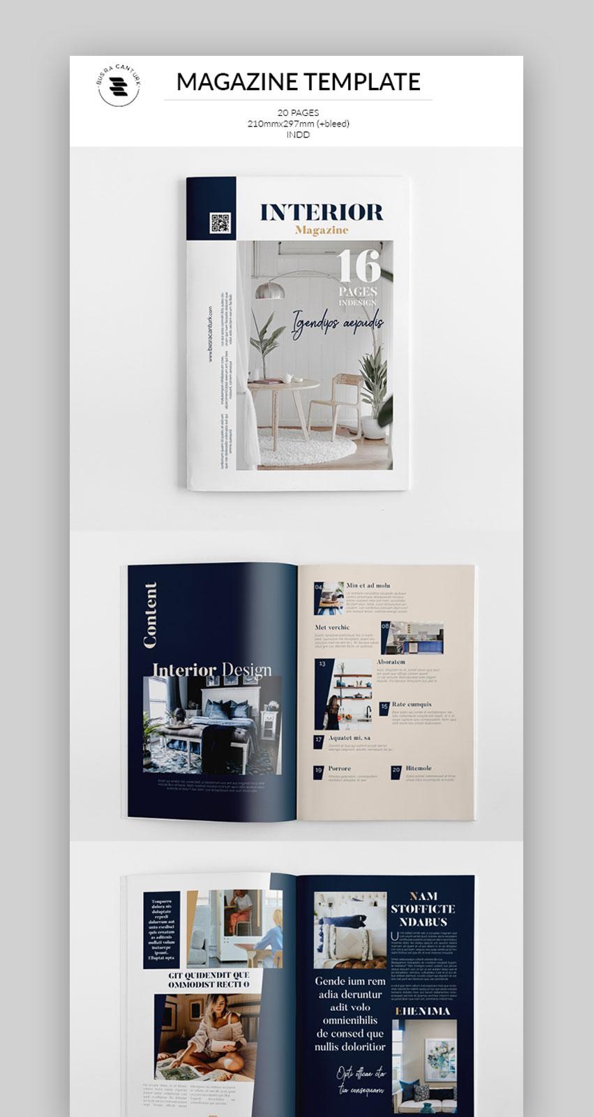 InDesign Magazine Template Design