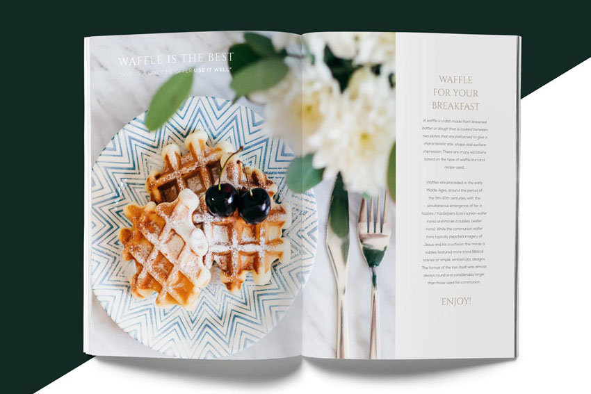 Magazine Style Cookbook Template