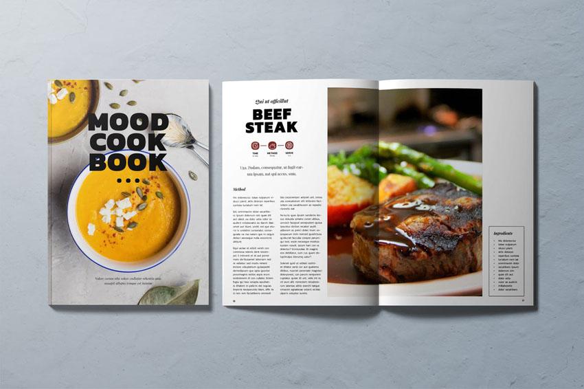 Cook Book Recipe Template InDesign