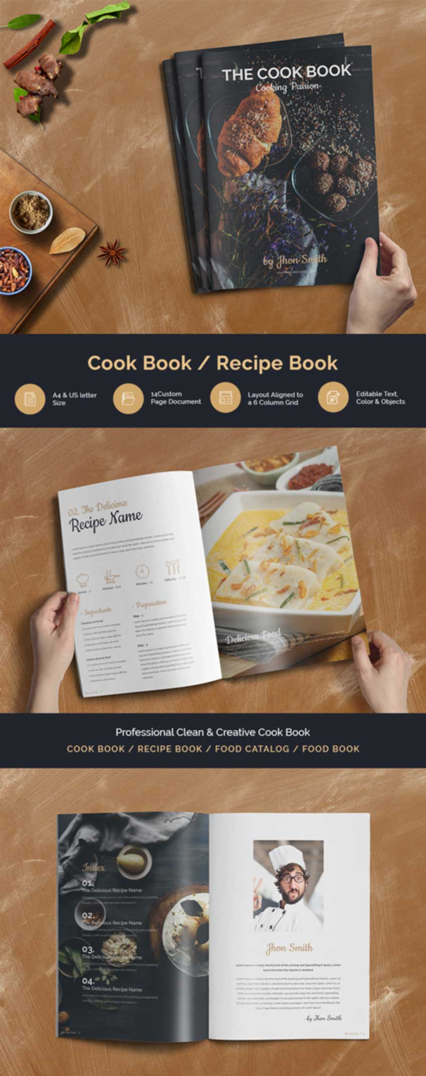 28 Best Recipe Cookbook Templates To Download Word Indesign