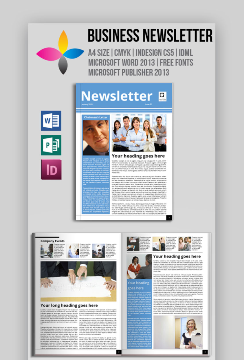 Business Newsletter Microsoft Word