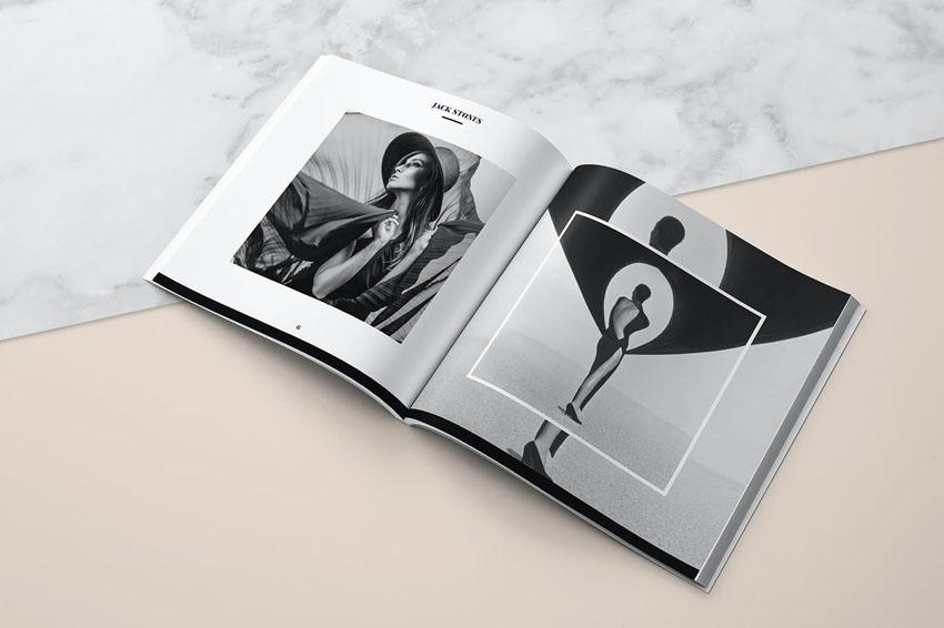 Square Portfolio Photobook Template