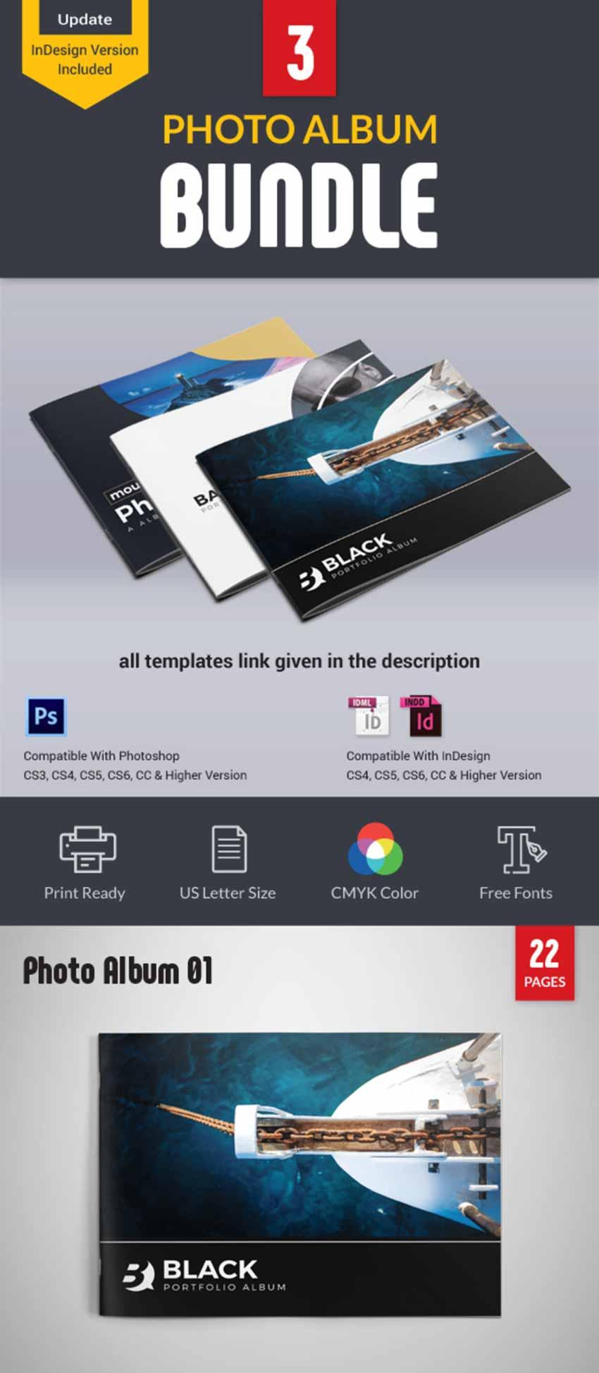 Photo Book Template Bundle