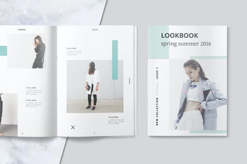 Stylish InDesign Look Book Template