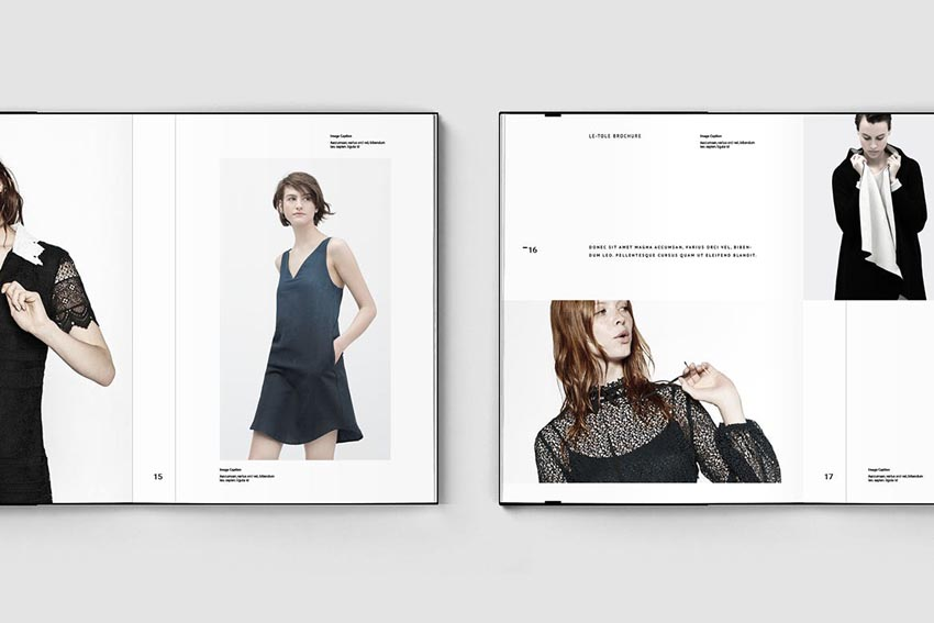 Lookbook Layout Template Design